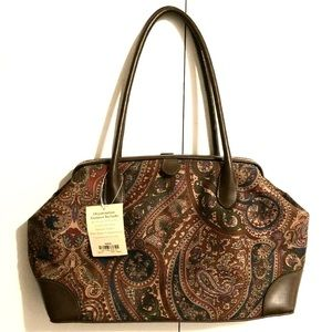 NEW ST JOHN'S BAY Brown Paisley Shoulder Handbag